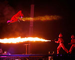 Flamethrower Trampoline Stunt – The EX - Toronto