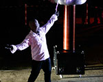 High Voltage Tesla Coil Stunt